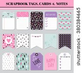 scrapbook tags  cards and notes ... | Shutterstock .eps vector #380384665