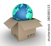 carton box is opened and the... | Shutterstock . vector #380385115