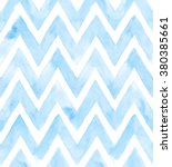 Chevron Of Blue Color On White...