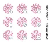 fingerprint scanner icons on...