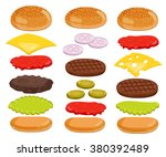 burger isolated. burger... | Shutterstock . vector #380392489