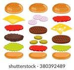 burger isolated. burger...   Shutterstock . vector #380392489