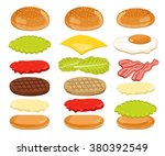 burger isolated. burger...   Shutterstock . vector #380392549