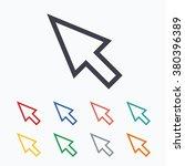 mouse cursor sign icon. pointer ... | Shutterstock .eps vector #380396389