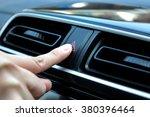 woman finger hitting car... | Shutterstock . vector #380396464
