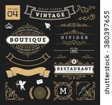 set of retro vintage graphic... | Shutterstock .eps vector #380397655
