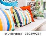 patio outdoor deck with... | Shutterstock . vector #380399284