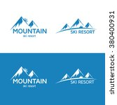 ski resort logo template.... | Shutterstock .eps vector #380400931