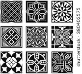 vintage ornamental patterns in... | Shutterstock .eps vector #380402575
