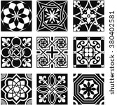 vintage ornamental patterns in... | Shutterstock .eps vector #380402581