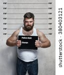 portrait of a obese hardened... | Shutterstock . vector #380403121