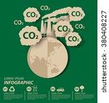 carbon dioxide. save world... | Shutterstock .eps vector #380408227
