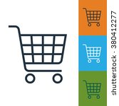 shopping cart icon | Shutterstock .eps vector #380412277