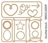 ropes set. cartoon vector... | Shutterstock .eps vector #380413009