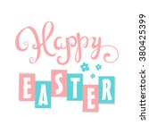 happy easter card. easter hand... | Shutterstock .eps vector #380425399