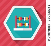 abacus calculation flat icon... | Shutterstock .eps vector #380430361