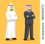 manga arab man cartoon vector... | Shutterstock .eps vector #380430571