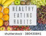 healthy eating habits with... | Shutterstock . vector #380430841