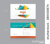 abstract business card design... | Shutterstock .eps vector #380430874