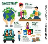 save world infographics... | Shutterstock .eps vector #380430931