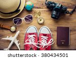 travel accessories for trip | Shutterstock . vector #380434501