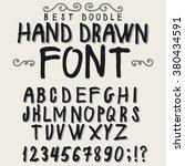 vintage font alphabet  hand... | Shutterstock .eps vector #380434591