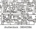 electronics schematic   Shutterstock . vector #38043586