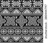 vector tribal mexican vintage... | Shutterstock .eps vector #380444797