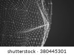 abstract polygonal space low... | Shutterstock . vector #380445301