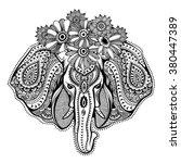 vintage graphic vector indian... | Shutterstock .eps vector #380447389