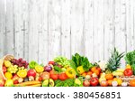 fruits and vegetables. | Shutterstock . vector #380456851