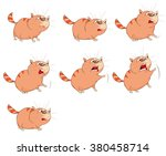 vector cartoon character cute... | Shutterstock .eps vector #380458714