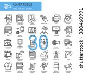 advertising    thin line and... | Shutterstock .eps vector #380460991