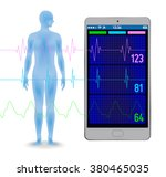 human vital sign and smart... | Shutterstock .eps vector #380465035