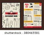 brochure or poster restaurant ... | Shutterstock .eps vector #380465581
