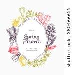 vector frame design with hand... | Shutterstock .eps vector #380466655