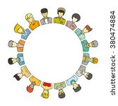 people group form circle shape... | Shutterstock .eps vector #380474884
