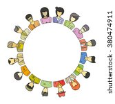 people group form circle shape... | Shutterstock .eps vector #380474911
