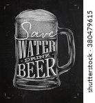 poster beer glass lettering... | Shutterstock .eps vector #380479615