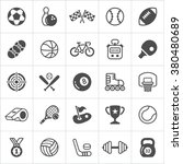 Trendy Sport Flat Icons. Vector