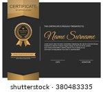 vector certificate template. | Shutterstock .eps vector #380483335