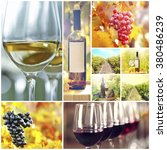 collage with beautiful wine... | Shutterstock . vector #380486239