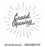 grand opening. distressed... | Shutterstock .eps vector #380488249