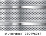 metal background with... | Shutterstock .eps vector #380496367