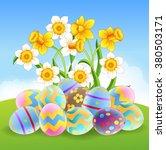 illustration of colorful easter ... | Shutterstock . vector #380503171