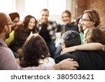 team huddle harmony... | Shutterstock . vector #380503621