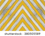 Small photo of Acute angle, old white and yellow wood texture