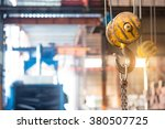 empty warehouse interior with... | Shutterstock . vector #380507725