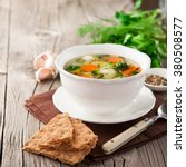 homemade vegetable soup with...