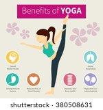 infographic benefits of yoga | Shutterstock .eps vector #380508631
